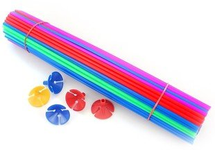 100 sets balloons sticks and cups (sticks length:40cm) Balloon brace