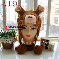 Free Shipping 200pcs/lot 2012 fashion kids hat chicken monkey animal hats caps beanie hat winter hats [A48]