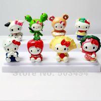 Free shipping Japan Anime Hello Kitty PVC Figure Set Of 8