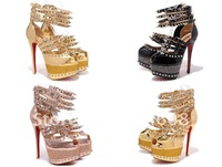 2012 new arrive high heel shoes  No heels pumps Rhinestone sexy high heel pumps open toe platform heels red bottom shoes