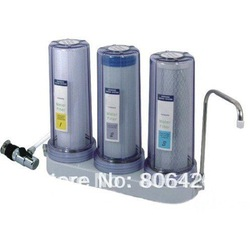3 stages water filter system + universal tap water valve connector+direct drinking(China (Mainland))