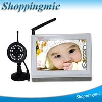 2.4G 7 inch LCD Wireless Night Version FM Baby Monitor Security System Drop Shipping Free shipping wholesale price