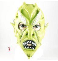 Halloween Full Face Green Ghost Masks Mardi Gras Masquerade Costume Party MASKS Free Shipping 20 pcs