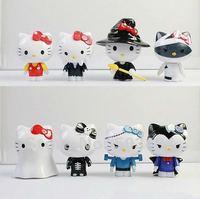 New Hello Kitty 7-8cm PVC Figure Toys Halloween KT Set of 8 Free Shipping