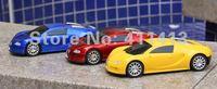 Wonderful 10pcs Bugatti veyron Super classic super mini model car speaker support TF Card / U Disc / FM Function free shipping