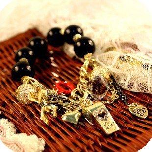 Min.order is $15 (mix order)2013 Lip rhinestone ball beaded bracelet,trendy heart bowknot whistle charm bracelets,Free shipping