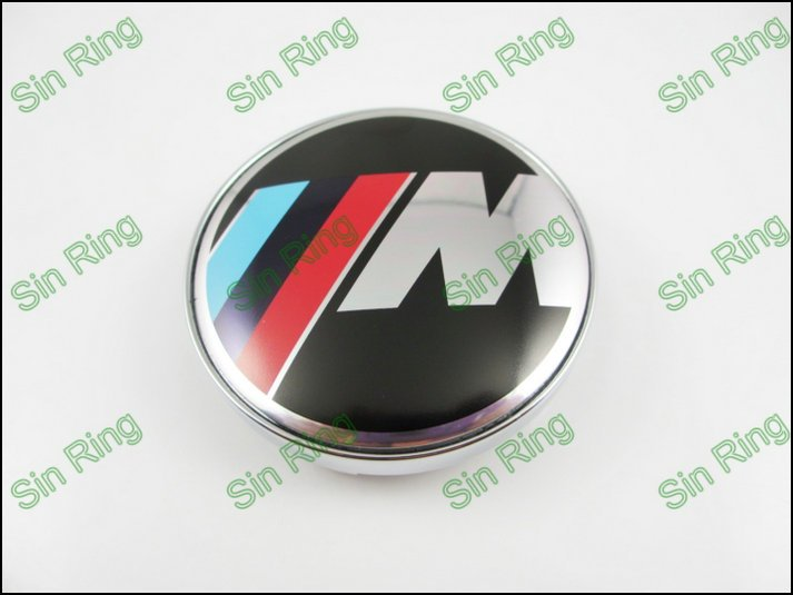 40pcs/lot New 60MM Wheel Center Caps M Power Car Emblem Badge For(China (Mainland))