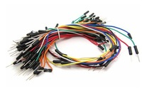 Free shipping, 100 lots 65pcs/lot 6500pcs Solderless Flexible Breadboard Jumper Cable Wires male to male