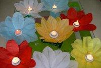 Free shipping Wholesale  100pcs/lot  Lotus Floating Candle water lantern  20*20CM