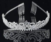Free Shipping 3pcs/lot Fashion Hair Accessories Wedding Dresses Rhinestone Bridal Tiaras Charm Flower Crown Hair Jewelry