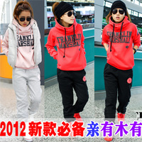 free shipping women girls thick sports hoodie suit ,fashion casual women hoodies sweatshirts set (hoody,panty,vest) JK-080