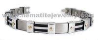 "Free Shipping Fashion Jewelry Healing Magnetic Bracelet Titanium 8.5"" Magnetic Titanium Bracelet OTB-317B"