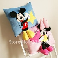 J2 Super cute new style mickey 3D plush pillow,30*30cm, 1 PAIR