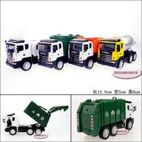 Garbage truck mixer oil tank  dump truck  alloy car models free air mail