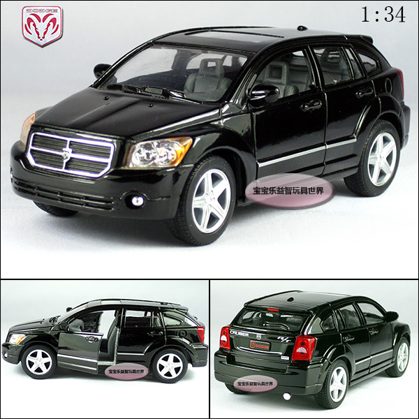 New 1:34 toy suv dodge caliber black alloy car models free air mail