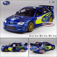 1:36 2007 SUBARU wrc solberg blue alloy car models free air mail