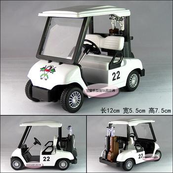 MIni golf ball car white alloy car model free air mail