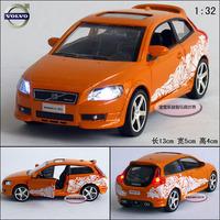 orange VOLVO C30 G alloy car model free air mail