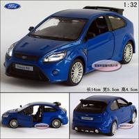 New 1:32 Ford focus blue alloy car models plain free air mail