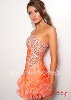 Orange organza one shoulder cocktail dresses for sale australia