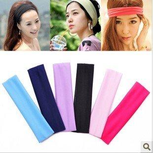 (30 Pcs/Lot) Best For Yoga/Sports 6 Colors Women Lady Girl's Elastic Headbands,Hair Headwear