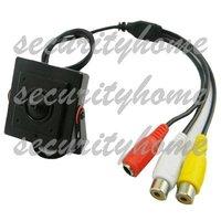 Hot selling!Mini HD 600TVL 1/3 CMOS Security 3.7mm Pinhole Audio Video Color CCTV Camera 80 Degree
