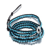 2014 100% Good Quality And Hot sell And Fashional Turquoise Wrap Bracelet LWB306 Free Shipping
