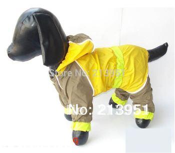 2014 Pet dog waterproof raincoat poncho, large dog raincoat with four legs dogs raincoats free shipping B0089W