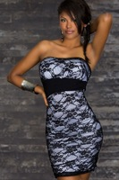 Женское платье one-sleeve crystal-decorate Clubwear mini Dress black/ blue TWO colors size 2551 New style