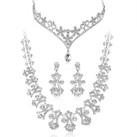 Freeshipping-New arrival bridal jewelry with rhinestone Bib necklace Designed by  designers from fashion week.ST111125 HO110599