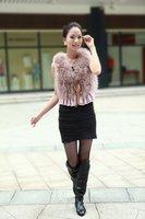 Hotsale: factory direct   Genuine Turkey  Fur  vest /lady Waistcoat with lace  / Topsale/ Drop sale /Factory direct sale