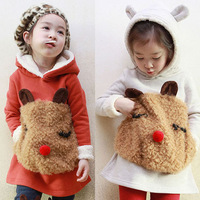 Hot Sale children's clothing female child kangaroo cartoon sweatshirt hoodies girl's outerwear long-sleeve coat fit 2-8T