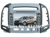 New!! 7'' Hyundai Santa Fe 2012 Car DVD Player stereo with GPS bluetooth A2DP TV iPod Free Shipping