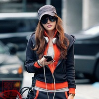 2012 sweatshirt female autumn and winter fleece thickening sports casual set plus size twinset with a hood women's