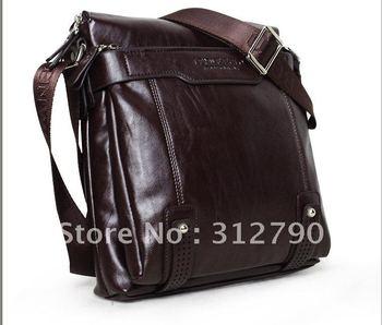 by EMS Brown& Black ] 100% Genuine leather men soft leisure shoulder bag,leather men messenger bags
