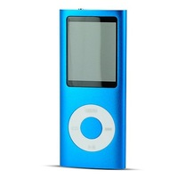 "8GB Metal 2"" LCD Screen USB Rechargeable Portable MP3 Player FM Radio Ebook Reader Peach Blue"