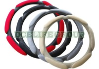Free shipping suede fabric car steering wheel cover for four seasons car