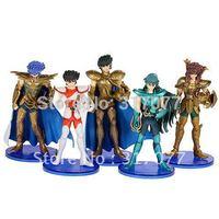 5 x Anime Saint Seiya Figure Dolls