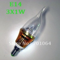 Free shipping:  B15 LED Cablde light  brightest 3W   85V-265V AC  (warm &cold light)