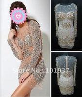 Милая бисером блесток пола Русалка платье вечернее 2958