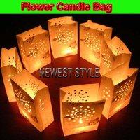 FLOWER STYLE 20*13*7cm HIGH QUALITY! Flame Retardant Paper Candle Bag/Luminary Bag Festival Essentials
