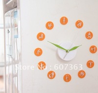 Free shipping Unique DIY Design Magnetic Wall Clock