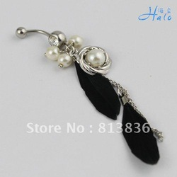 BJ00409!Min Orde is USD10! Rhinestone Lady Navel Piercing navel Ornament Metal Alloy Belly Button Ring body Puncture Jewelry(China (Mainland))
