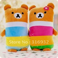 J2 Multicolour rainbow Rilakkuma plush toy cushion, cute Rilakkuma pillow, 1pair