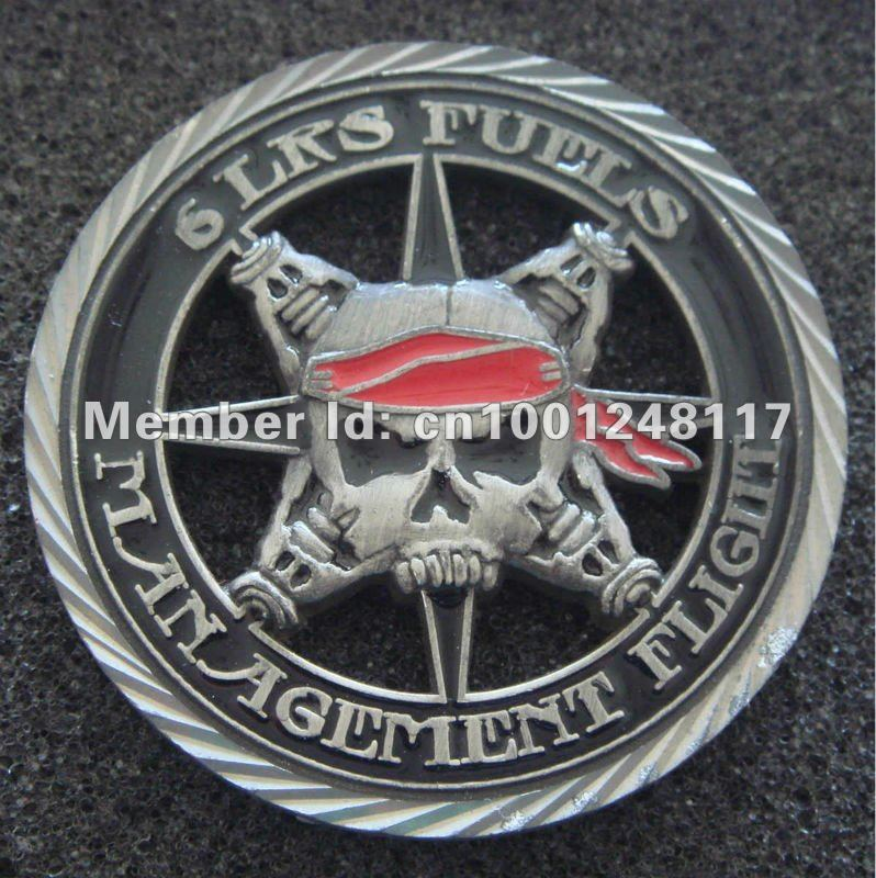 US Air Force 6th LRS Fuels Management Flight MACDILL POL WHO THE HELL CUT-OUT CUSTOM MILITARY COINS, 100PCS/LOT(China (Mainland))