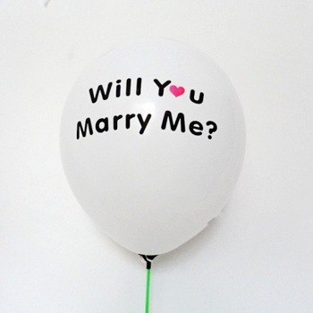 "New arrive !!! 100pcs/lots wedding balloon , Proposal balloon ,print "" will you merry me ?"" Party decoration"