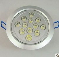 50PCS LED Downlights high power led downlights 12W 12*1W 1080lm AC85-265V Warm white/cold white Free Shipping / DHL