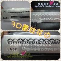 Nail art da necessary 3 d nail art sticker lace strip applique day system style