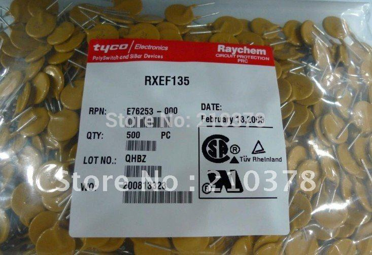 Self recovery fuse RXEF135 PTC Resettable Fuses(China (Mainland))