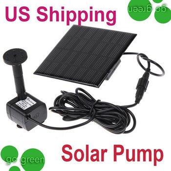 Hot Dropship!Brand New Solar Panel Power Submersible Fountain Pond Water Pump brushless bird bath Garden Watering Free Ship